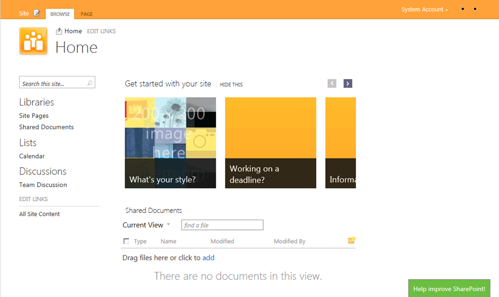 Sharepoint 15 sharepoint 2013 screenshots cameron for Sharepoint 2013 site templates free