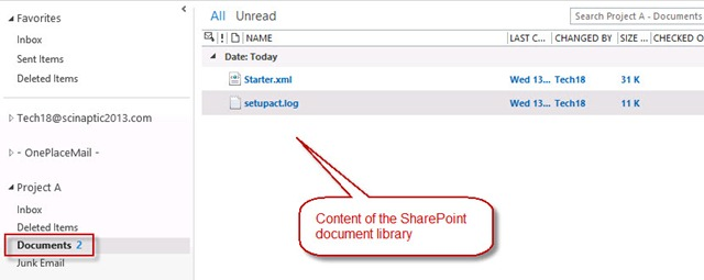 outlook-2013-viewing-sharepoint-document-library-content