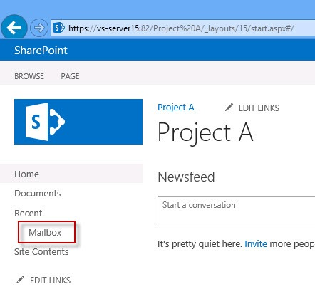 sharepoint-site-mailbox-quick-launch