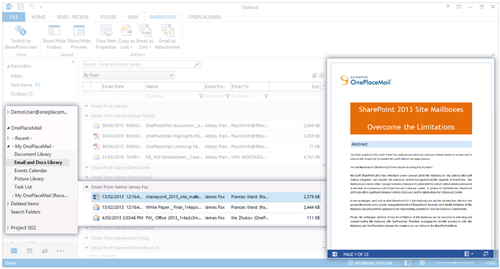 preview-sharepoint-content-embedded-outlook-web-apps-cameron-dwyer-oneplacemail