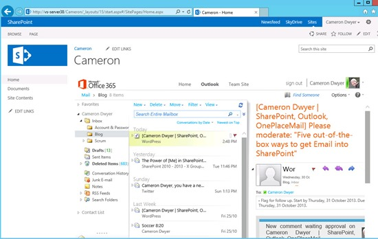 outlook-web-access-email-integration-sharepoint-2013-owa-cameron-dwyer