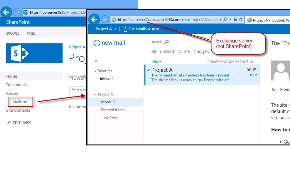 Integrating Outlook Web Access (OWA) and SharePoint 2013