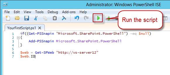 how to create and run a powershell script