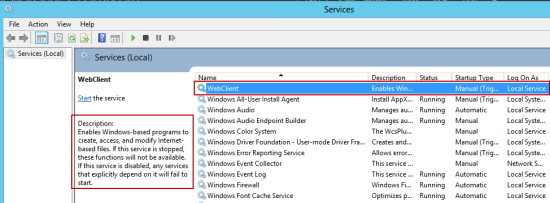 How to install/enable the WebClient (WebDAV) Service on Windows