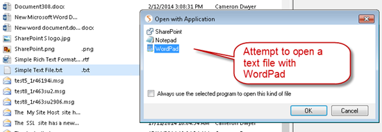 webdav-path-not-valid-sharepoint-fix-cameron-dwyer-05-open-with-wordpad