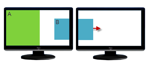 how to change monitor from left to right windows 10
