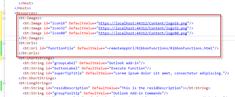 Outlook Add-in Ribbon Commands: Resolution to Manifest XML
