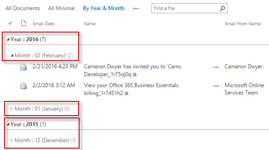 sharepoint-views-date-group-by-cameron-dwyer-06-view-result-group-by-year-then-month