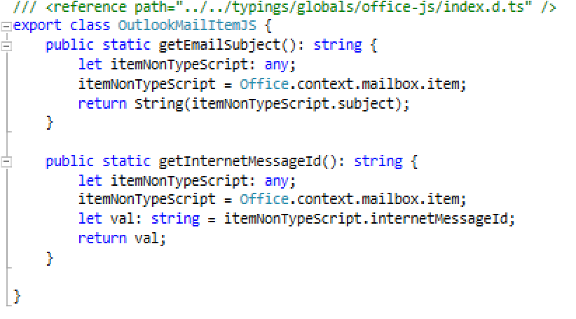 How to access properties of Office js objects that don't exist in
