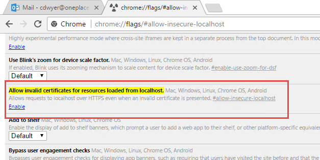 How to Avoid Chrome Security Issues Developing Office Add-in
