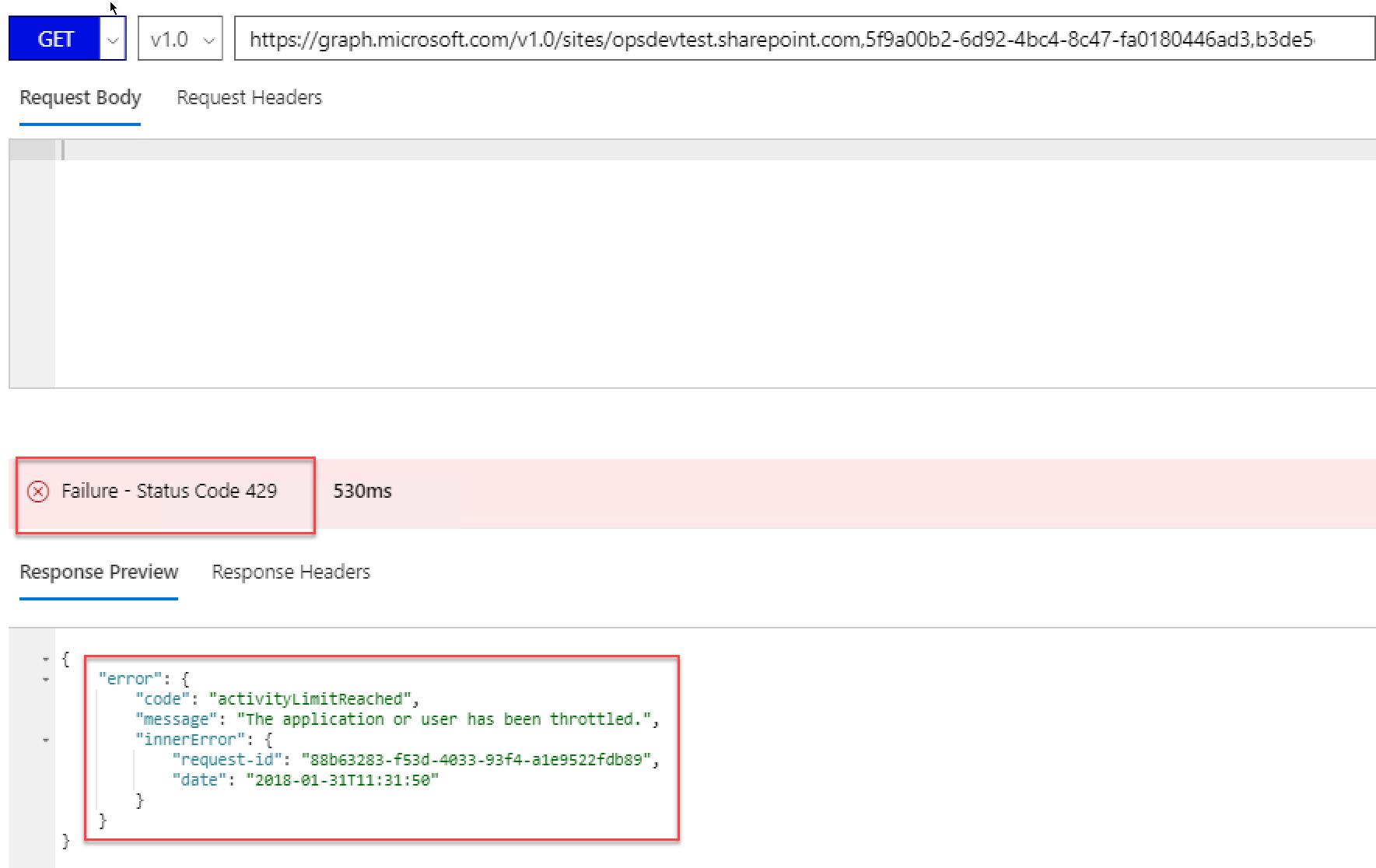 Microsoft Graph API, Throttling & SharePoint Lists/Libraries