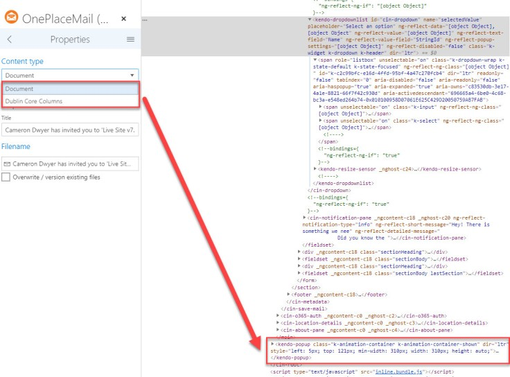 How to Inspect Dynamic HTML Elements (that keep disappearing
