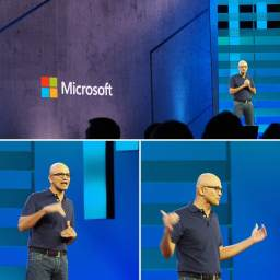 Cameron-Dwyer-Microsoft-Ignite-2018-Office-365-Keynote-Satya-Nadella