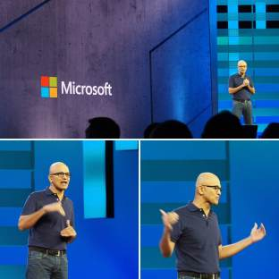 Cameron-Dwyer-Microsoft-Ignite-2018-Office-365-Keynote-Satya-Nadella