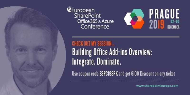 Countdown to the European SharePoint Conference 2019
