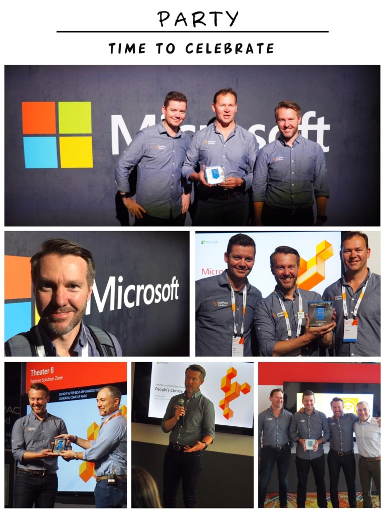Microsoft app award winners 2019 OnePlaceMail. Cameron Dwyer, James Fox, Colin Wood